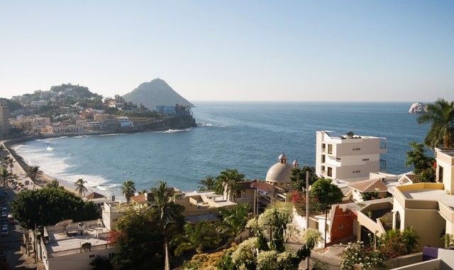 The beautiful, tropical and sunny Mazatlan, Mexico coastline