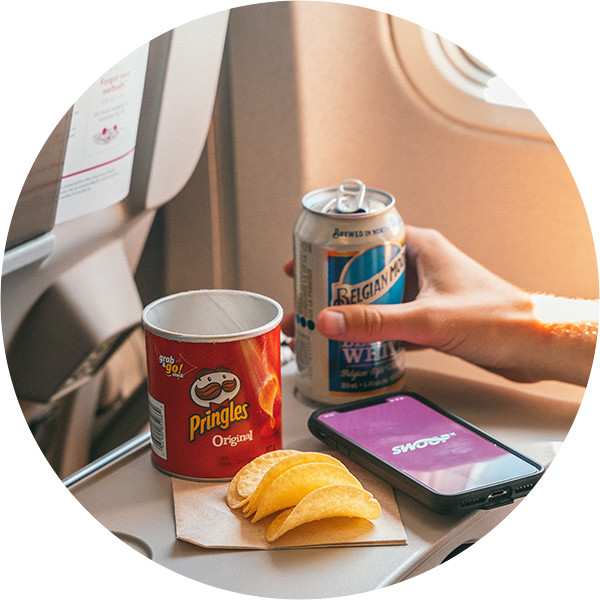 Swoop | a picture of our inflight snacks