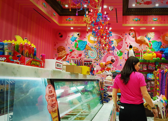 Inside Sloan's Ice Cream shop in the Venetian in Las Vegas.
