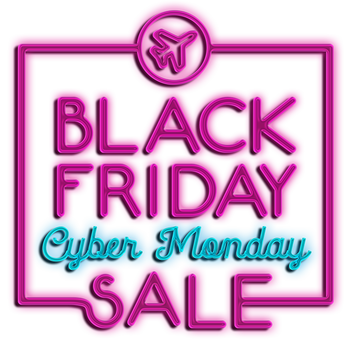 Swoop | Neon sign for black friday and cyber monday sale