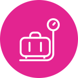 Swoop | carefully weigh baggage icon