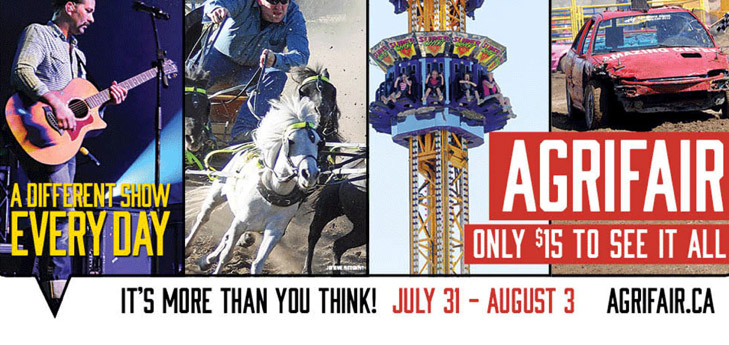 image of Abbotsford Agrifair with musicians, rides, rodeo and activities.