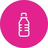 Swoop | water bottle icon in pink