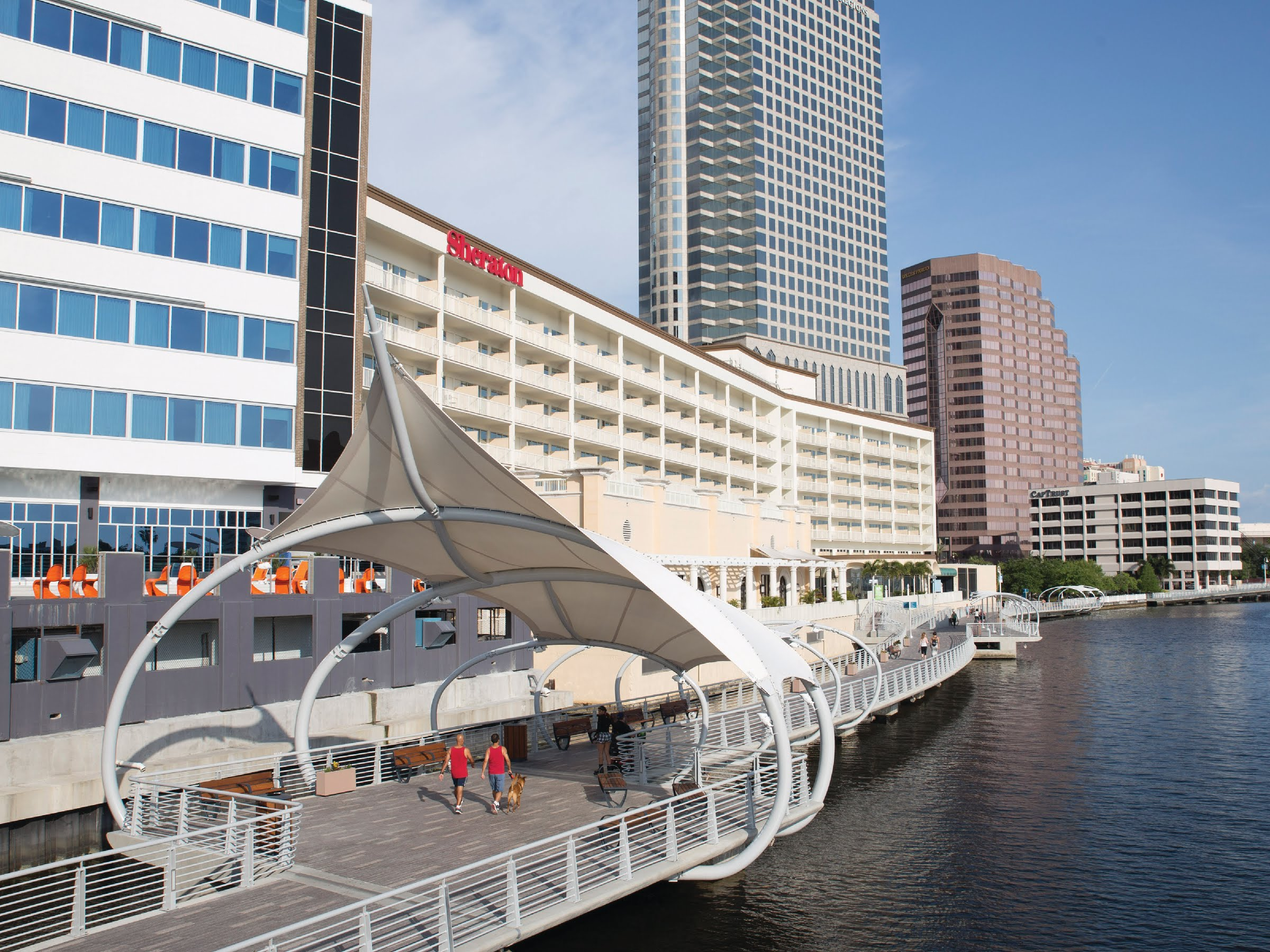Swoop | a picture of the Tampa riverwalk
