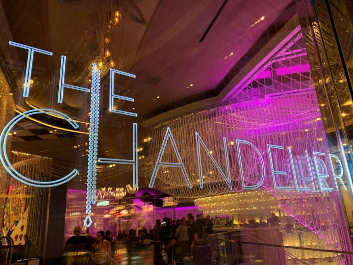The entrance to The Chandelier Bar in the Cosmopolitan in Las Vegas