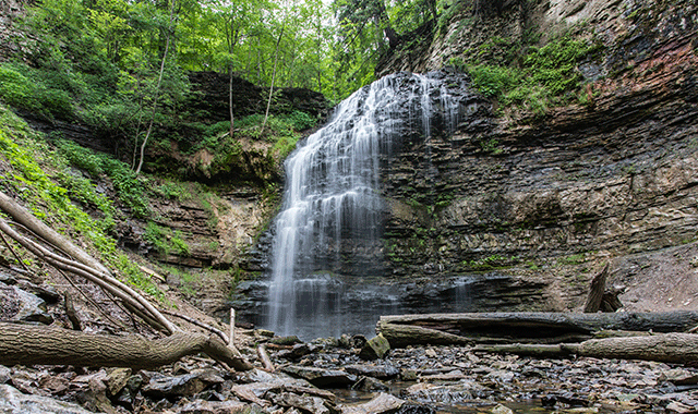 Waterfall near Hamilton, Ontario