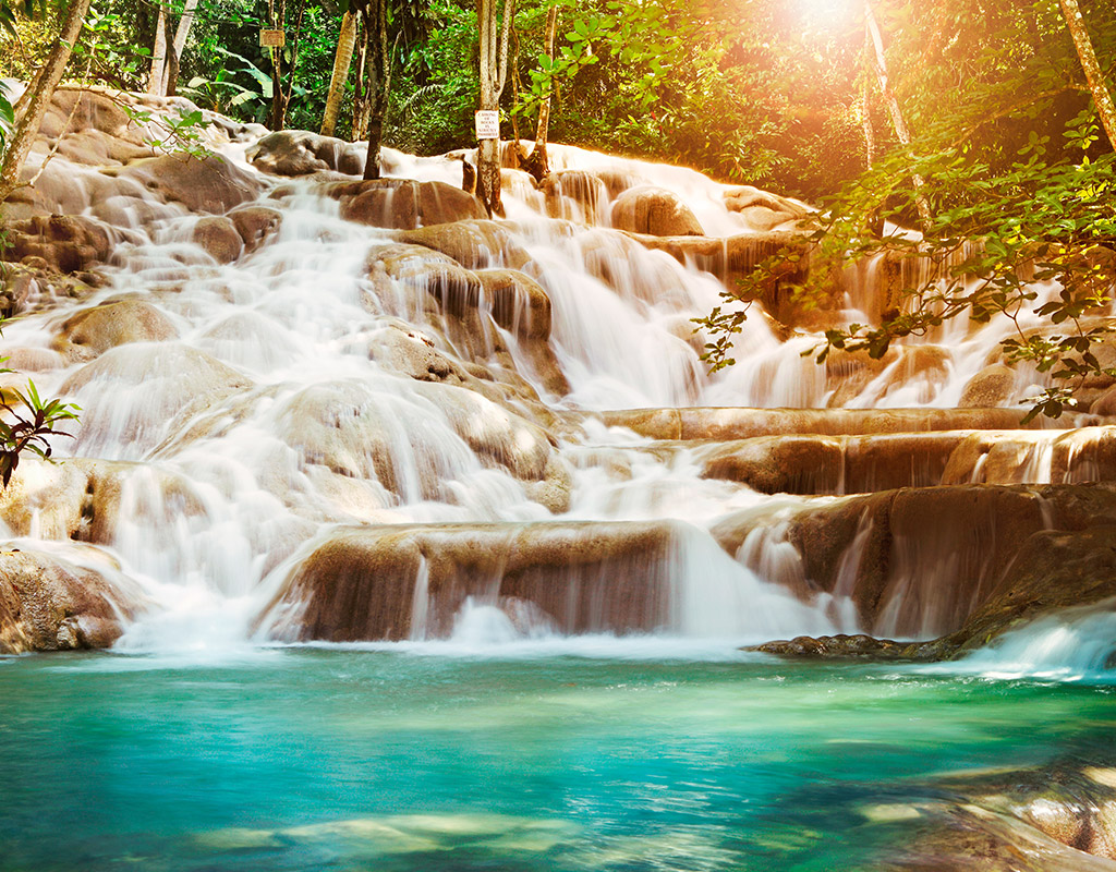 Swoop | a picture of a waterfall in Montego Bay, Jamaica