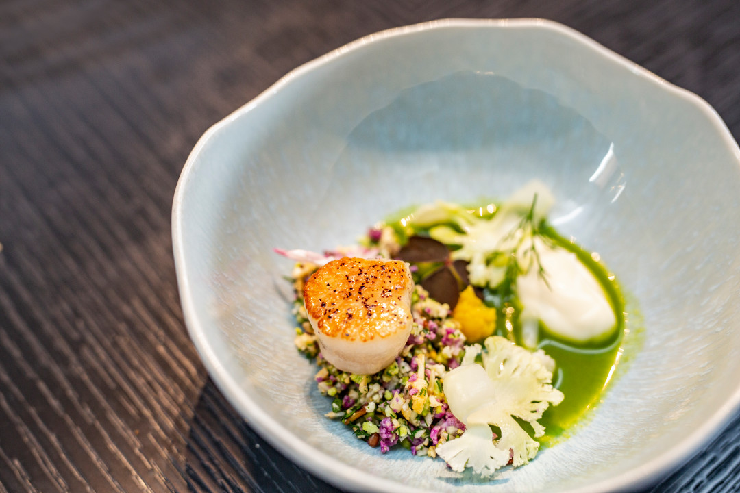 Swoop | a picture of a scallop dish