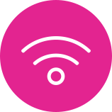 Swoop | wifi logo in pink