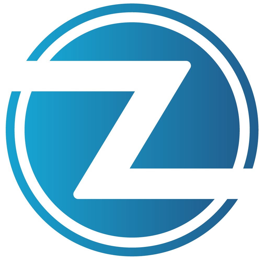 blue Logo of zoom bus lines