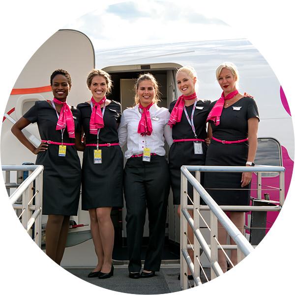 Swoop | a picture of our flight attendants