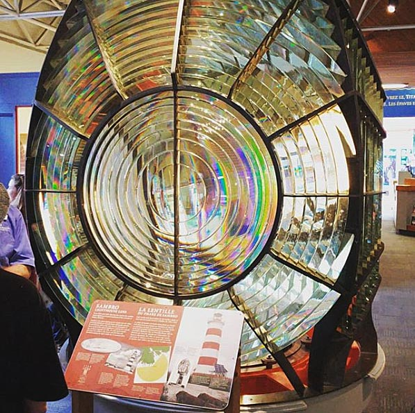image of a lighthouse light in a Halifax museum