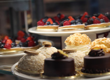 Dessert bar in the Eataly Italian Marketplace in Park MGM, Las Vegas on the main Las Vegas Strip.