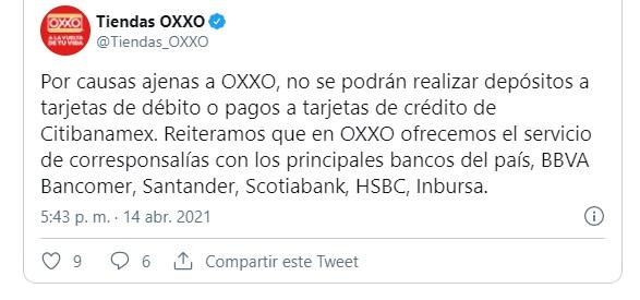Twiter Oxxo