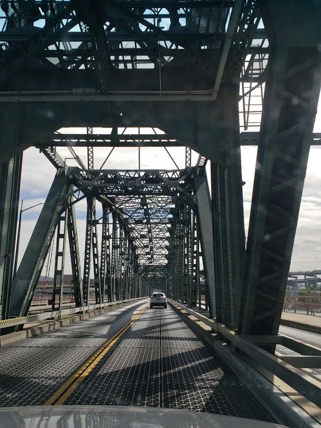 driving through a bridge in Portland