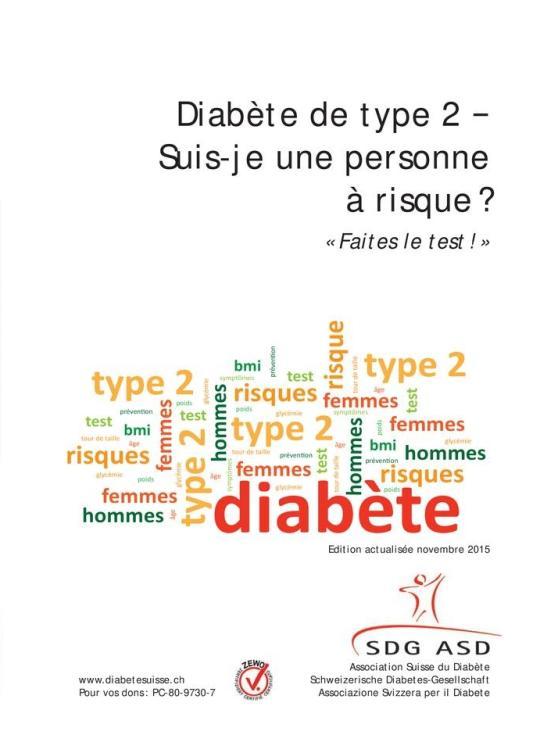 Diabète de type 2 − Suis-je une personne à risque ? | migesplus