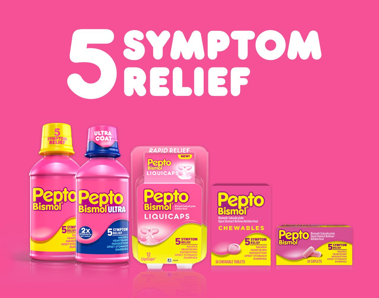 Pepto-Bismol for Nausea, Upset Stomach & Diarrhea Relief
