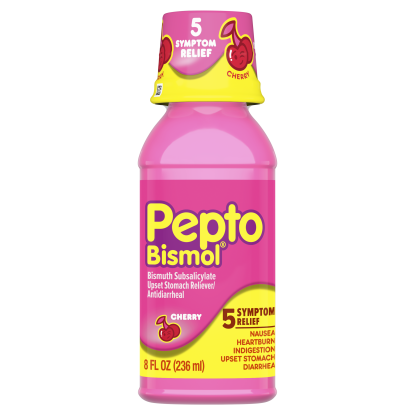 00301490039564 Pepto Cherry Liquid 8 oz. front