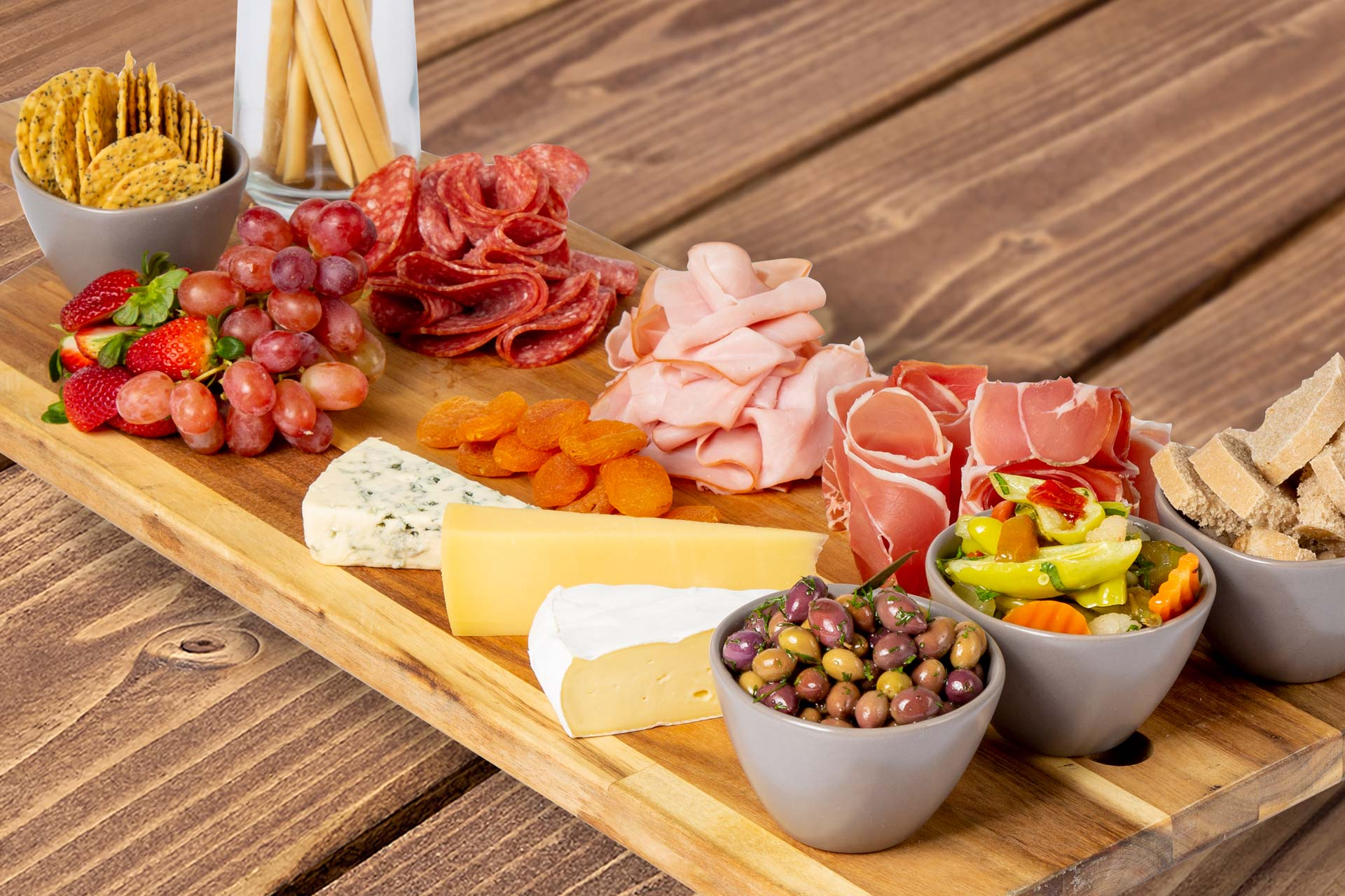 Platter of antipasto and cheese
