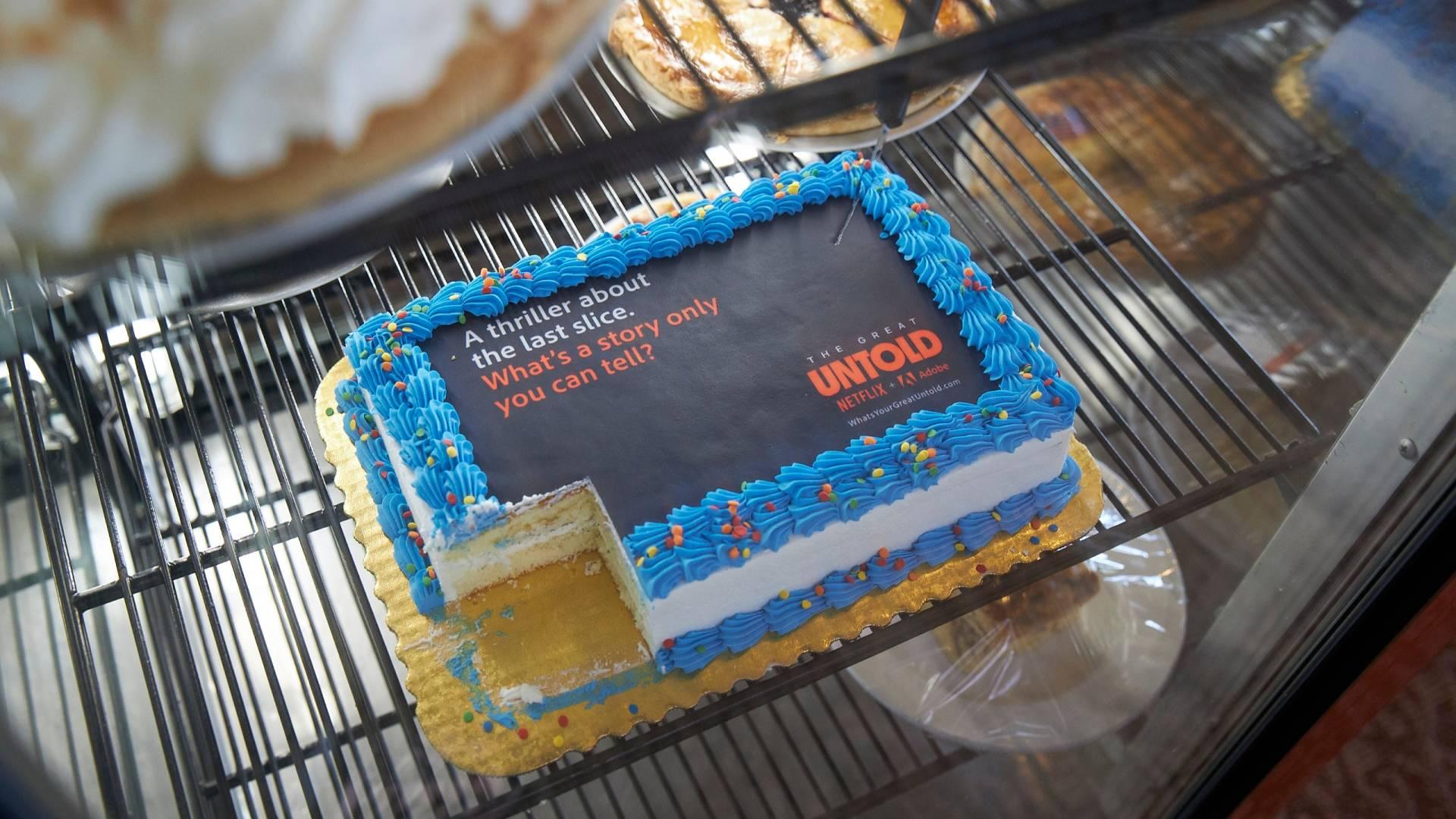 Netflix-TheGreatUntold Cake PR