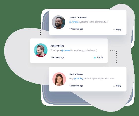 App user profile preview