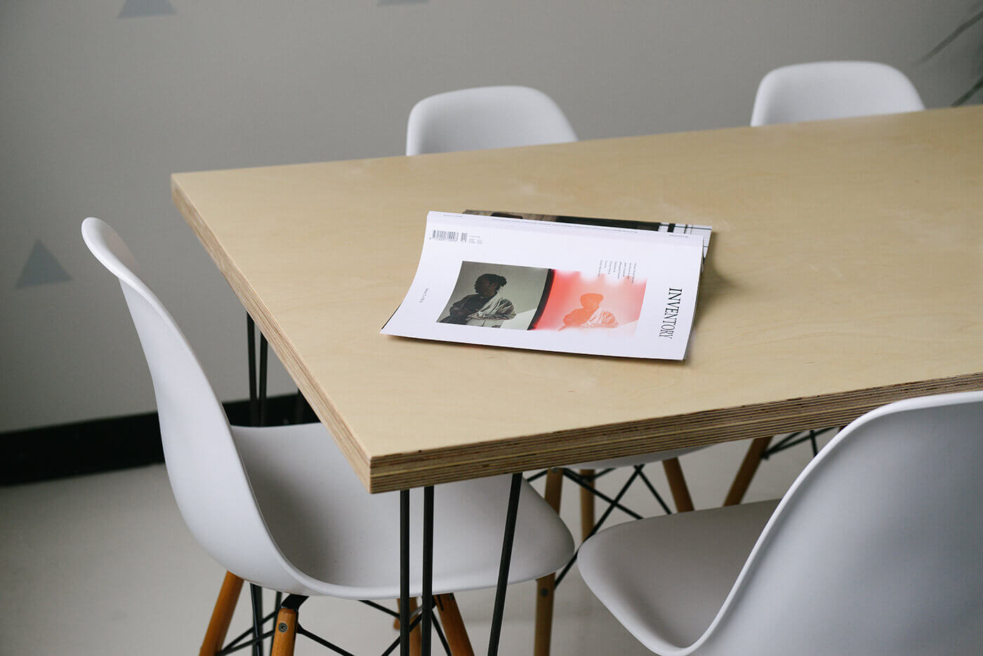 magazine one a office table