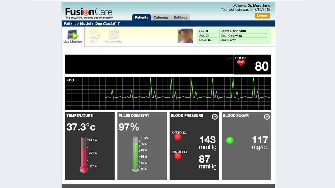 Real-time Patient Monitoring Dashboard