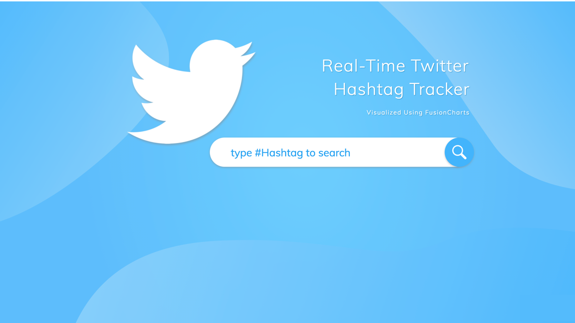 Real-time Twitter hashtag tracker