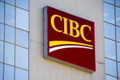 CIBC logo on Building