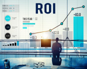 ROI going up on a bar chart