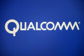 Qualcomm Logo on Blue Background