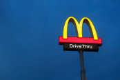 Mcdonalds Logo on Blue Background
