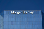 Morgan Stanley Logo on Building