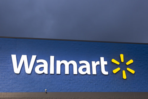 WalMart Logo on Building