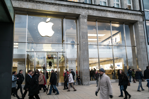 Apple Store on Busy Street