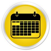 Black and yellow calendar icon