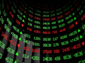 Curved Stock Ticker Image