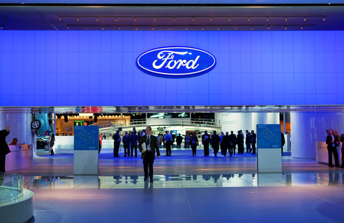 Ford Logo on Building