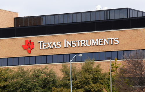 Texas Instrument Logo on Building