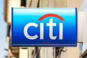 Citigroup Logo on Stock Background