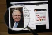 Warren Buffett and Magnifier Glass