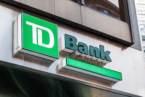 TD bank logo on a building