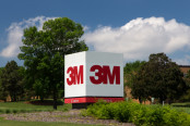 3M logo on a sign