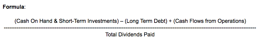 dividend coverage ratio formulas