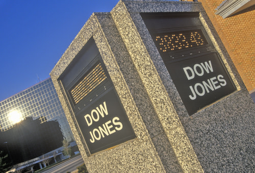 Dow Jones Sign USA