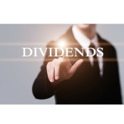 Man touching the word dividend