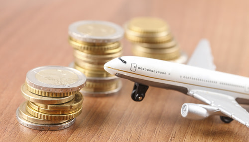 Aircraft and Piles of Coins