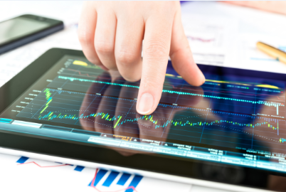 Stock Chart Tablet Image