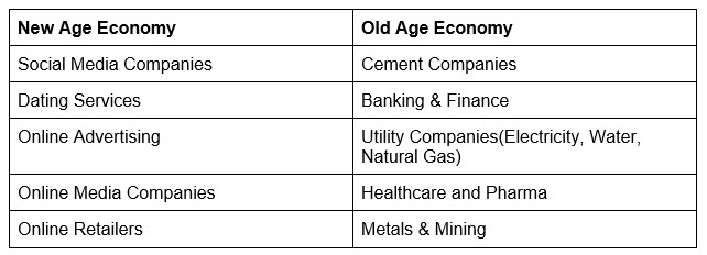 New Age Economy vs. Old Age Economy