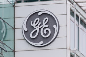 GE Logo on a Building